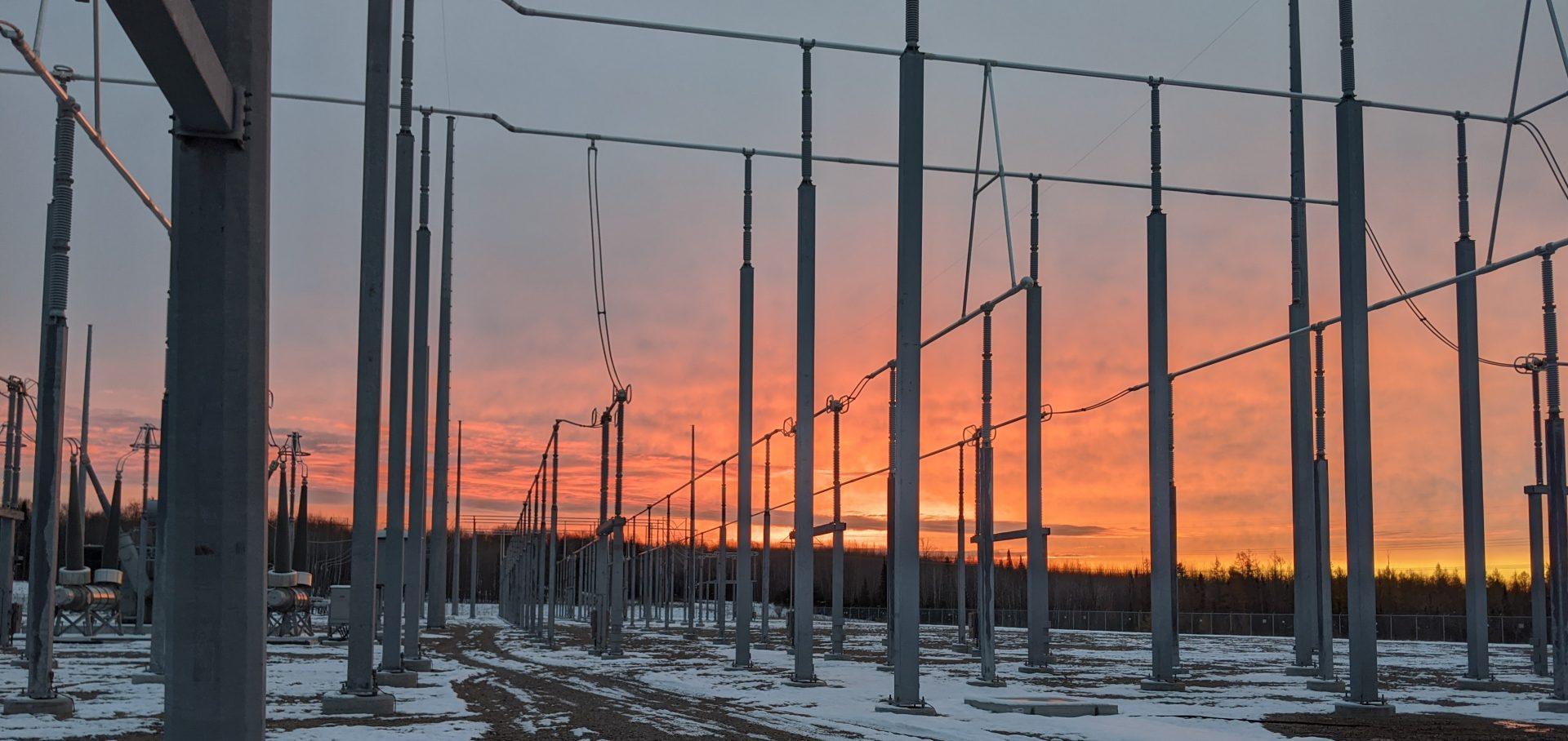 Transmission Substation at Sunrise